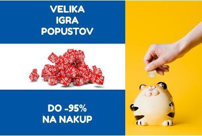 INPOS - VELIKA IGRA POPUSTOV - DO -95% NA NAKUP