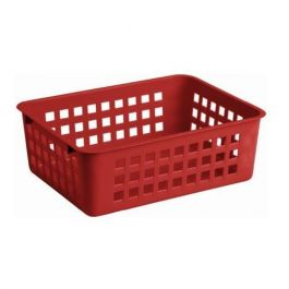 Košara mrežasta za shranjevanje 25x17x10cm 2,8l pvc rdeča (