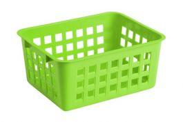 Košara mrežasta za shranjevanje A7 14x11x6cm pvc zelena  (