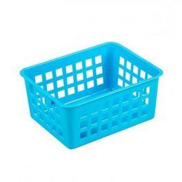 Košara mrežasta za shranjevanje A7 14x11x6cm pvc modra  (