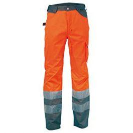 Hlače klasične RAY oranžne z odsevnimi trakovi št. 62