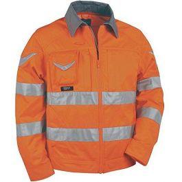 Bluza SIGHT oranžna z odsevnimi trakovi št. 58