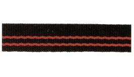 Trak  črno-rdeč 24mmx 50 m