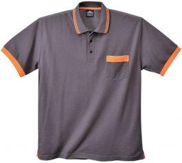 Majica polo siva št. L (material: mešanica 65% poliester,35% bombaž 210 gr)