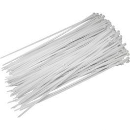 Vezica nylon bela 142x3,2mm - 100 kos