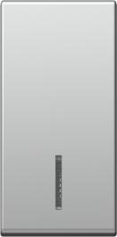 Tipka 1M srebrna IN02 TEM TM11ESIN02-B