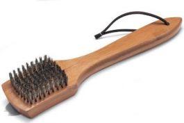 Žar dodatki - ščetka za čiščenje z lesenim ročajem 30cm Weber