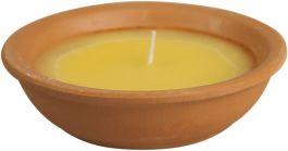 Sveča Citronella Terracotta vrnti ogenj s polnilom 13cm čas gorenja  do 7 ur  (