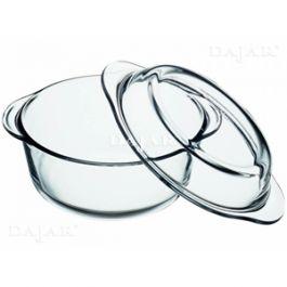 Pekač steklen okrogel  s pokrovom 4l  (