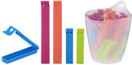 Ščipalke  za spenjanje  vrečk v vedru set 20/1 PVC raz. barve Kop.
