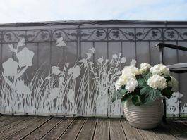 Zastirka balkonska 300x90 cm, Grass