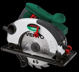 ŽAGA KROŽNA z laserjem 1200W, 185mm, hitrosti 4500 min-1, max globina reza 63mm - 52G684 VERTO