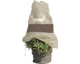 Zaščita za rastline zimska 110 cm x 110 cm, rjava