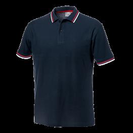 Majica polo SALSA modra  z rdečim robom št.L