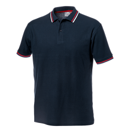 Majica polo SALSA modro-bela z rdečim robom št.L