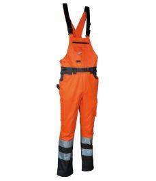 Hlače farmer SPARK oranžne z odsevnimi trakovi št. 54
