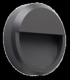 Svetilka LED zunanja P2304 OKROGLA ANTRACIT SIVA 8W 4000K IP65