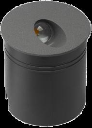 Svetilka LED zunanja 20006A OKROGLA ANTRACIT 2,8W 4000K IP65