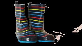 Škornji otroški fantovski št. 25 b. modri s črtami