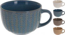 Skleda za juho z ročajem 450ml različne barve (