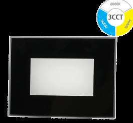 Svetilka LED vgradna 5W 240lm 3CCT 120° črno steklo IP66 WALL-A005-3CCT-BL