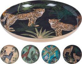 Krožnik kovinski 125x15mm, žival.motiv, Koop.