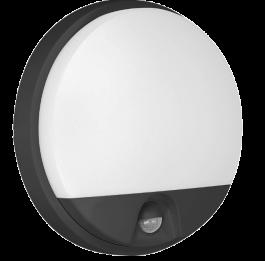 Svetilka LED AGAT s senzorjem 15W 1200lm 4000K ČRNA IP54 OR-OP-6112BLPMR4