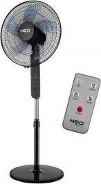 Ventilator samostoječi NEO, daljinski upravljalnik, fi 40 cm, 45 W, črn, Top.