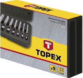 LUKNJAČ ZA USNJE 9. DELNI 3-12mm - 03A490 TOPEX