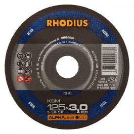 REZALKA 115x3.0x22.23 Fe KSM, ALPHA - RHODIUS 25/karton