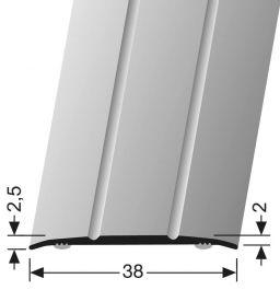 PROFIL PREHODNI ALU 38mm, L-90cm, PF 438, bronast, samolepilni