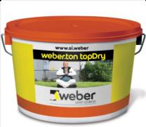 Zaključni omet Topdry  1,5 mm  osnovni toni 25 kg Weber
