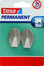 Permanent kljukica ovalna L, kovinska, 2 kosa