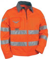 Bluza SIGHT oranžna z odsevnimi trakovi št. 54