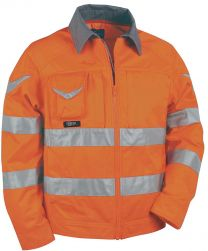 Bluza SIGHT oranžna z odsevnimi trakovi št. 48