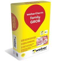 Lepilna malta Therm family GROB 25 kg Weber 42 vreč/paleta