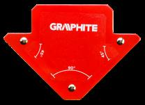 Kotnik magnetni za varilce 82x120x13mm - 56H901 GRAPHITE