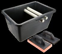 Vedro za keramičarje 40 l + gladilka guma/mehka spužva TOPEX
