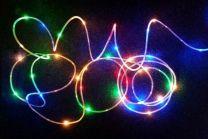 LED cevka 5 mm, 130 mikro LED, posamično utripajoče, multicolor