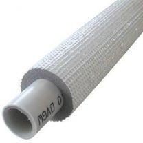 Cev več plastna, izolirana  Pex_AL_Pex 26x3mm, debelina izolacije 9mm, RDEČA barva, 25 metrov  EBRILLE