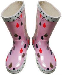Škornji gumi dekliški roza št. 28