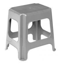 Stol maxi 41x33,5x42,5cm  silver  pvc (