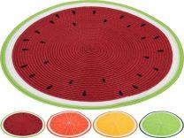 Pogrinjek namizni dekor sadje različne barve  pleten 38cm Kop.