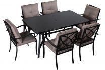 Garnitura vrtna Sycylia, miza + 6 stolov, Flor.