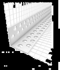 Fasadni vogalnik PVC z mrežo  15x10 2,5m   50 kos/paket, 2100 kos/paleta