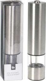 Mlinček sol/poper inox bat. keramično rezilo 5x22cm   Kop.