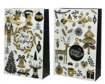 Darilna vrečka božična 8x20x30 cm, DSGlas