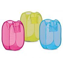Košara raztegljiva, za shranjevanje igrač, mrežasta, poliester, različne barve, Zeller