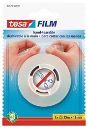 Tesafilm za trganje z roko, blister 25m : 19mm