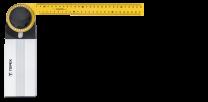 Kotnik nastavljiv 35 cm TOPEX